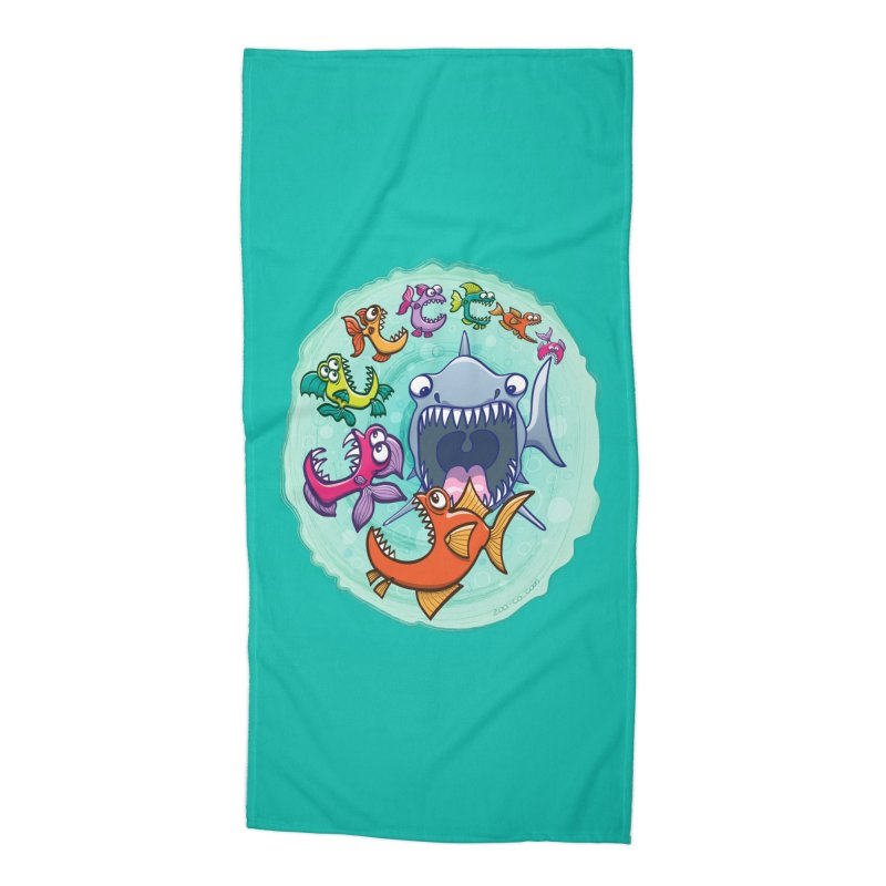 Big fish eat little fish and vice versa Accessories Beach Towel by Zoo&co's Artist Shop