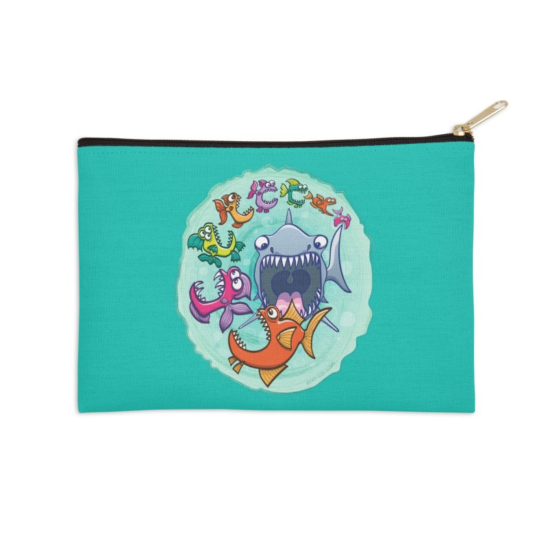 Big fish eat little fish and vice versa Accessories Zip Pouch by Zoo&co's Artist Shop