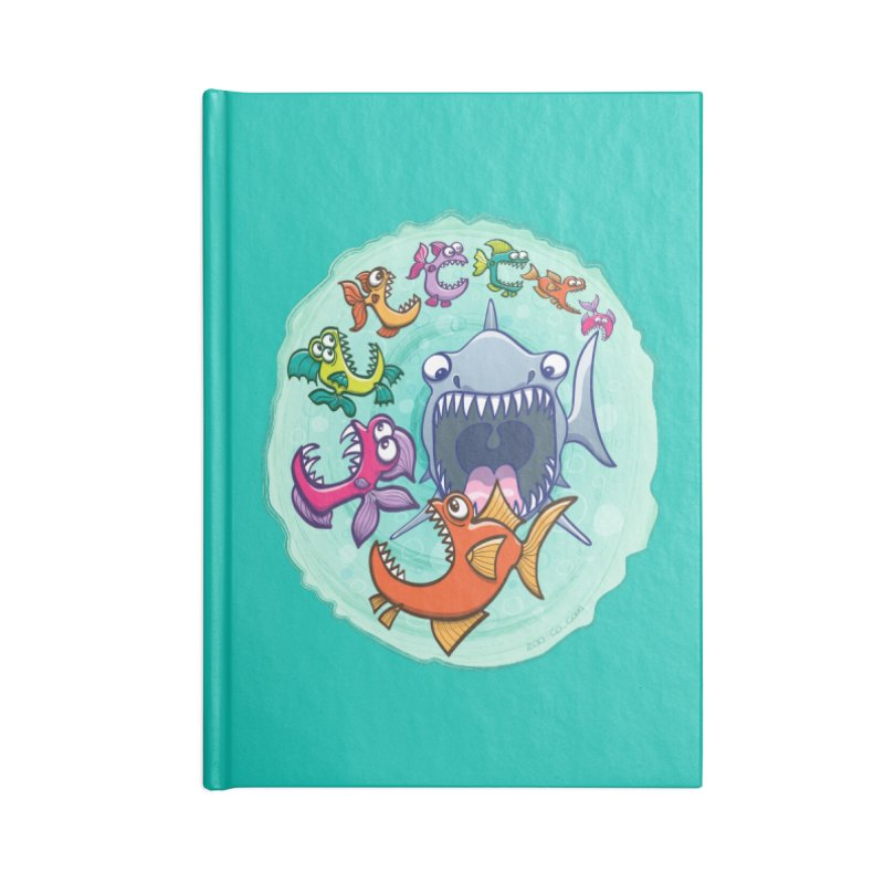 Big fish eat little fish and vice versa Accessories Notebook by Zoo&co's Artist Shop