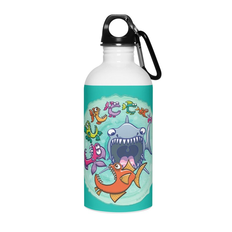 Big fish eat little fish and vice versa Accessories Water Bottle by Zoo&co's Artist Shop