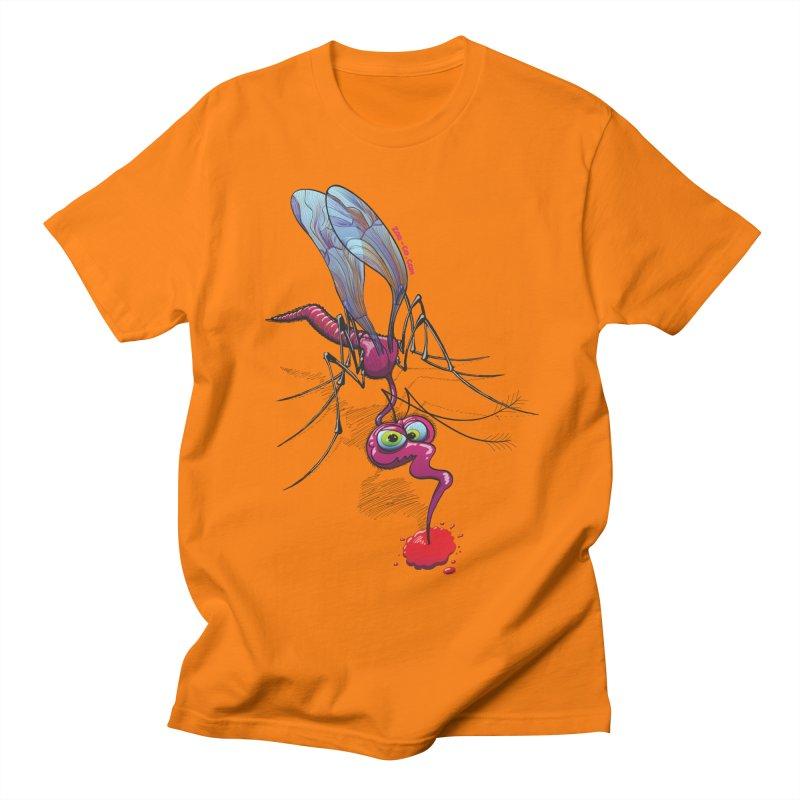 Terrific mosquito sucking blood Women's Unisex T-Shirt by Zoo&co's Artist Shop