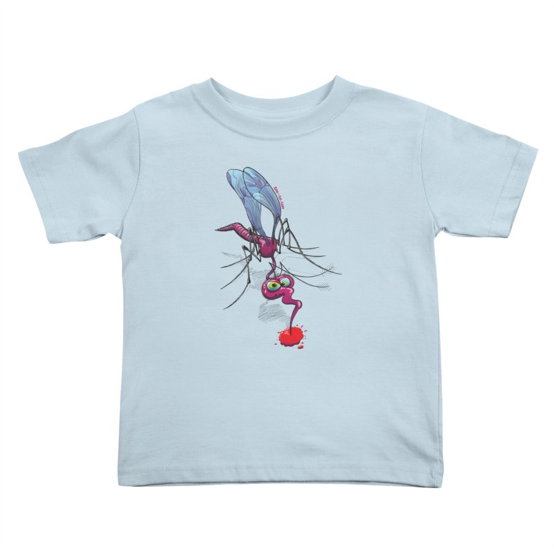 Terrific mosquito sucking blood Kids Toddler T-Shirt by Zoo&co's Artist Shop