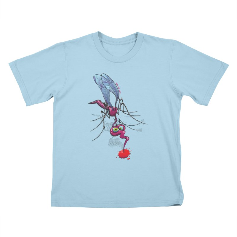 Terrific mosquito sucking blood Kids T-Shirt by Zoo&co's Artist Shop