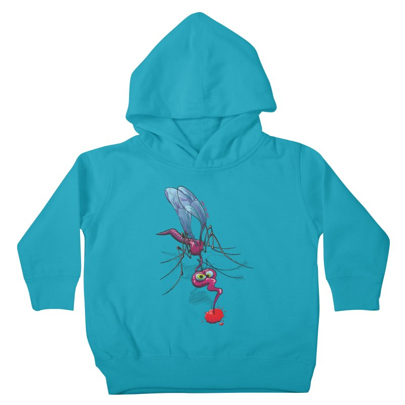 Terrific mosquito sucking blood Kids Toddler Pullover Hoody by Zoo&co's Artist Shop