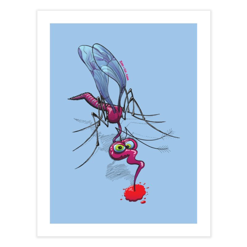 Terrific mosquito sucking blood Home Fine Art Print by Zoo&co's Artist Shop