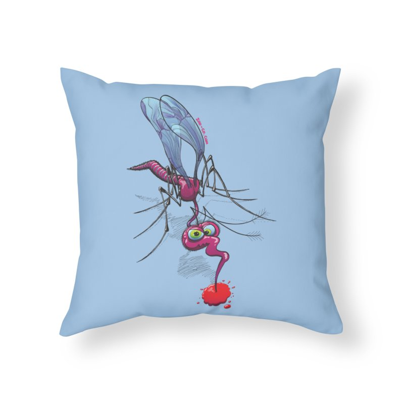 Terrific mosquito sucking blood Home Throw Pillow by Zoo&co's Artist Shop