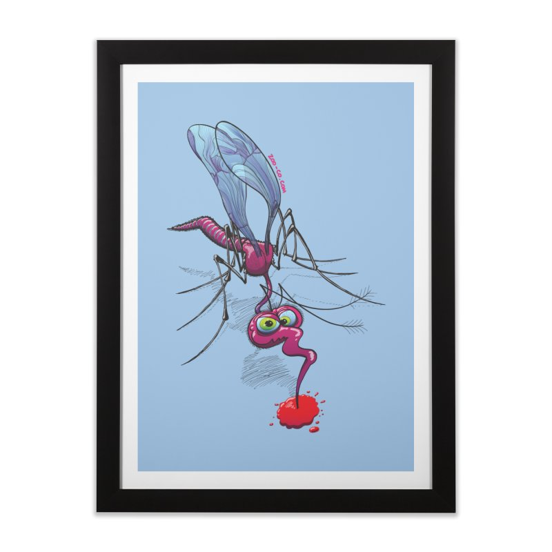 Terrific mosquito sucking blood Home Framed Fine Art Print by Zoo&co's Artist Shop