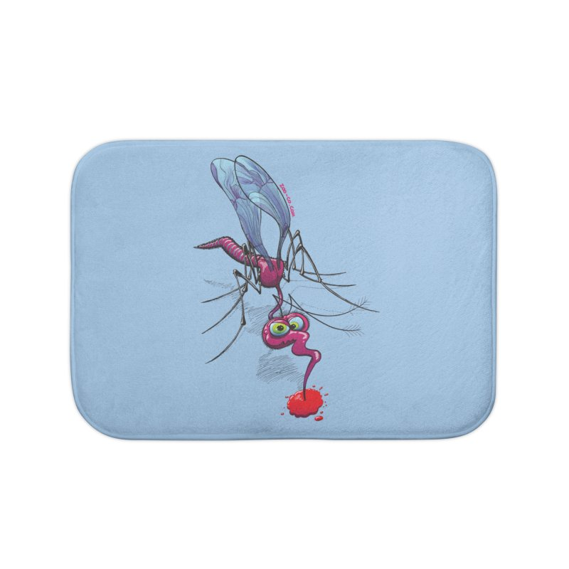 Terrific mosquito sucking blood Home Bath Mat by Zoo&co's Artist Shop