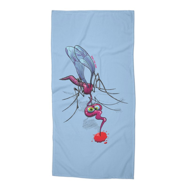 Terrific mosquito sucking blood Accessories Beach Towel by Zoo&co's Artist Shop