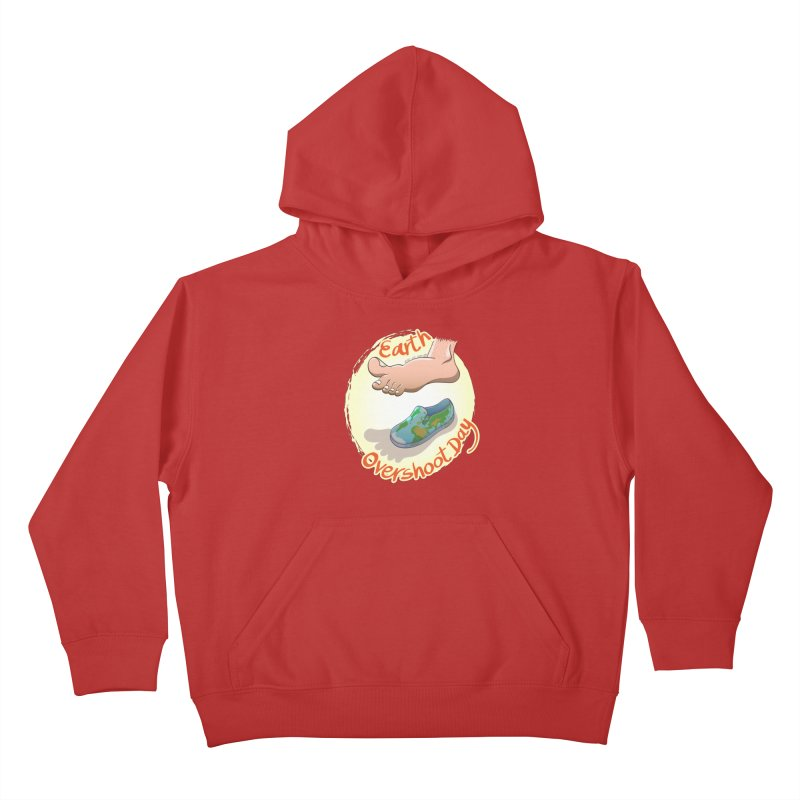Earth overshoot day Kids Pullover Hoody by Zoo&co's Artist Shop