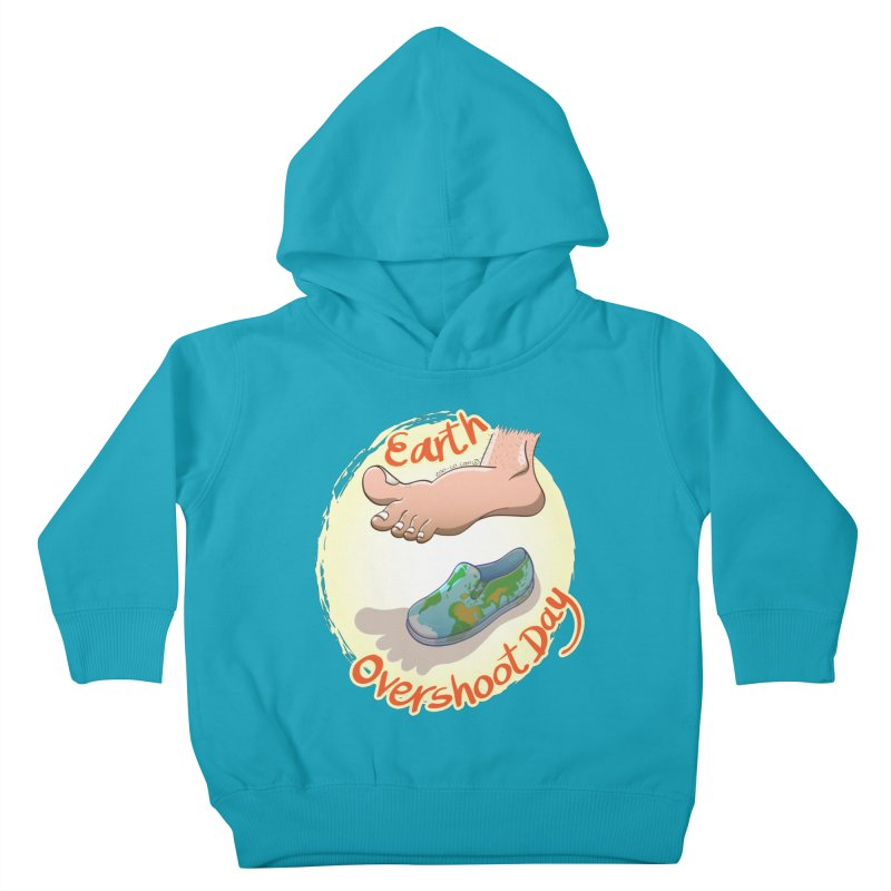 Earth overshoot day Kids Toddler Pullover Hoody by Zoo&co's Artist Shop