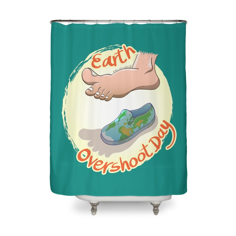 Earth overshoot day Home Shower Curtain by Zoo&co's Artist Shop