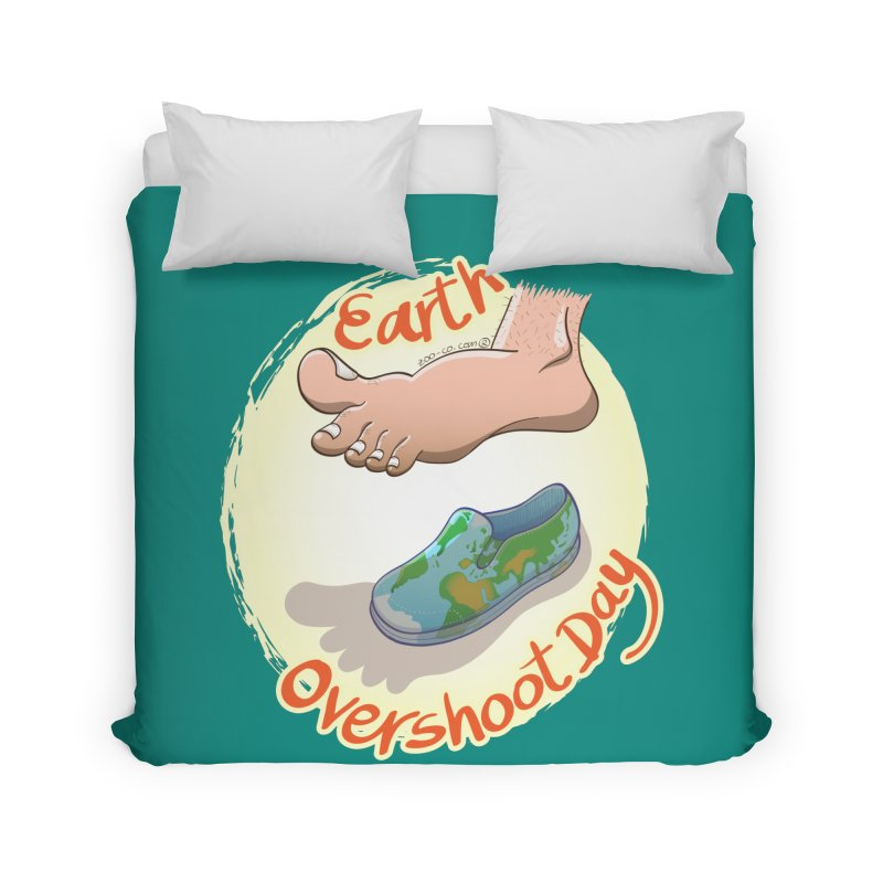 Earth overshoot day Home Duvet by Zoo&co's Artist Shop