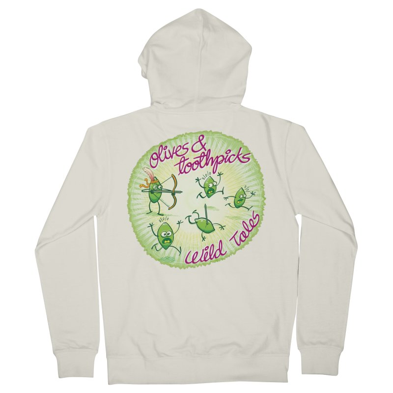 Olives and toothpicks wild tales Men's Zip-Up Hoody by Zoo&co's Artist Shop