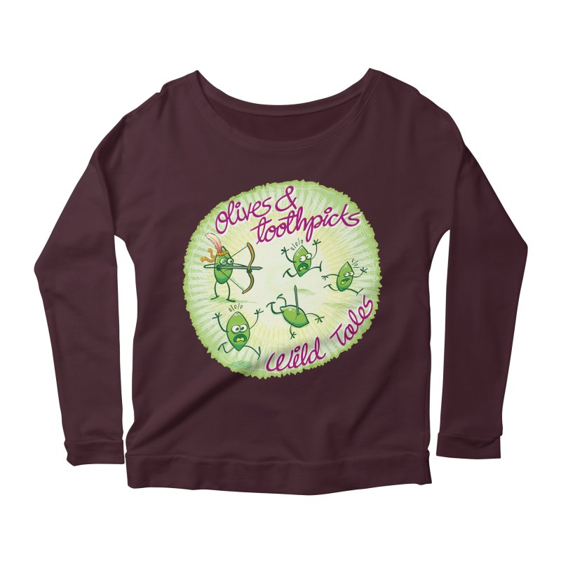 Olives and toothpicks wild tales Women's Longsleeve Scoopneck  by Zoo&co's Artist Shop