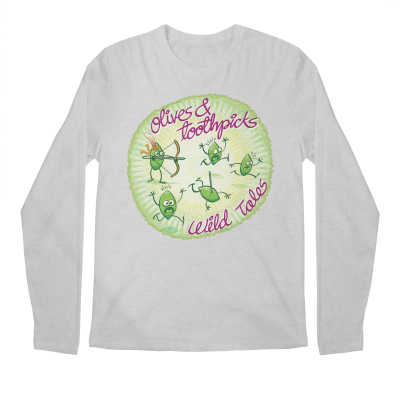 Olives and toothpicks wild tales Men's Longsleeve T-Shirt by Zoo&co's Artist Shop