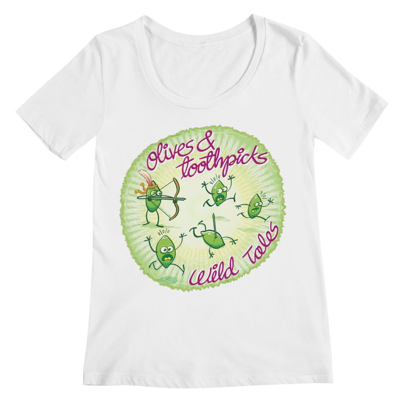 Olives and toothpicks wild tales Women's Scoopneck by Zoo&co's Artist Shop