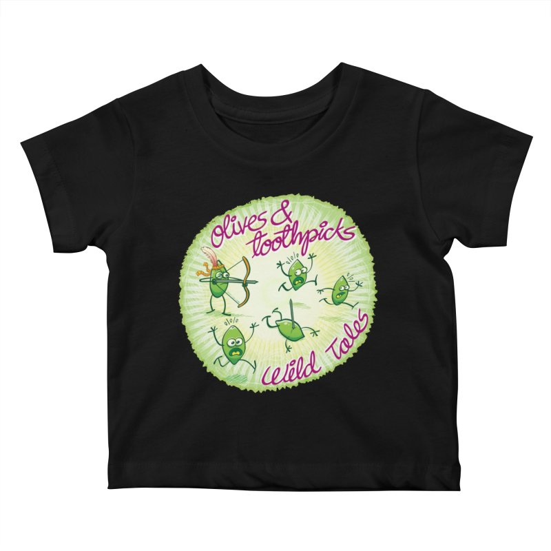 Olives and toothpicks wild tales Kids Baby T-Shirt by Zoo&co's Artist Shop