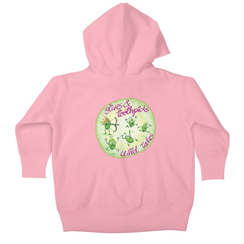 Olives and toothpicks wild tales Kids Baby Zip-Up Hoody by Zoo&co's Artist Shop