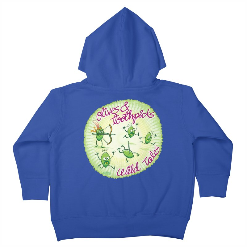 Olives and toothpicks wild tales Kids Toddler Zip-Up Hoody by Zoo&co's Artist Shop