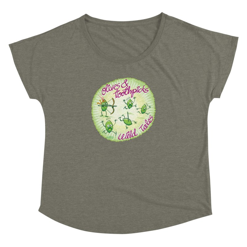 Olives and toothpicks wild tales Women's Dolman by Zoo&co's Artist Shop