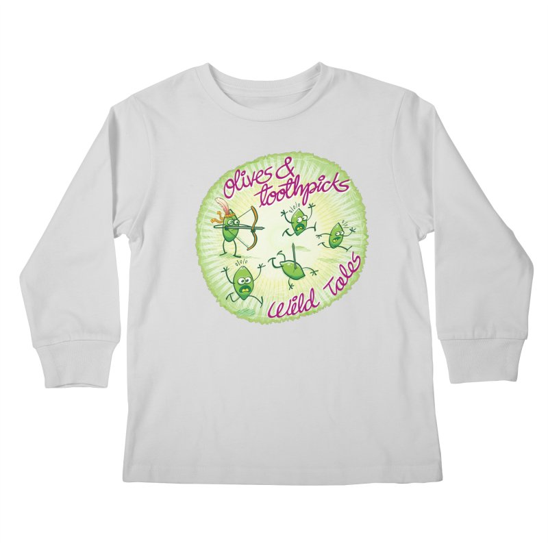 Olives and toothpicks wild tales Kids Longsleeve T-Shirt by Zoo&co's Artist Shop