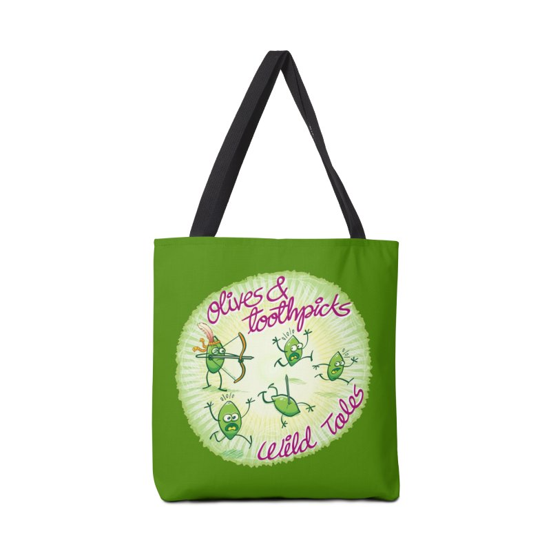 Olives and toothpicks wild tales Accessories Bag by Zoo&co's Artist Shop