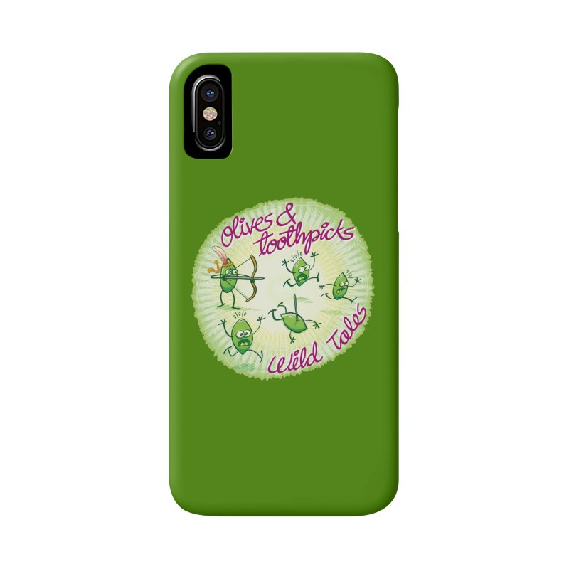 Olives and toothpicks wild tales Accessories Phone Case by Zoo&co's Artist Shop