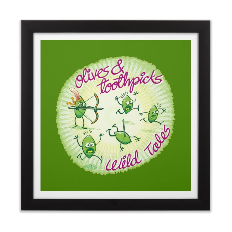 Olives and toothpicks wild tales Home Framed Fine Art Print by Zoo&co's Artist Shop