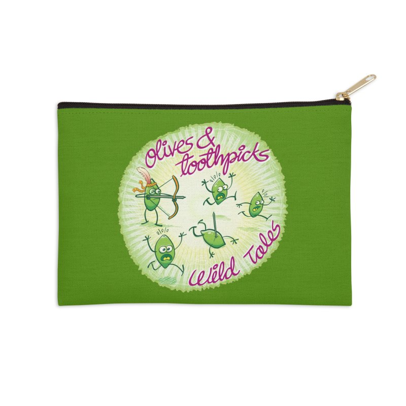 Olives and toothpicks wild tales Accessories Zip Pouch by Zoo&co's Artist Shop