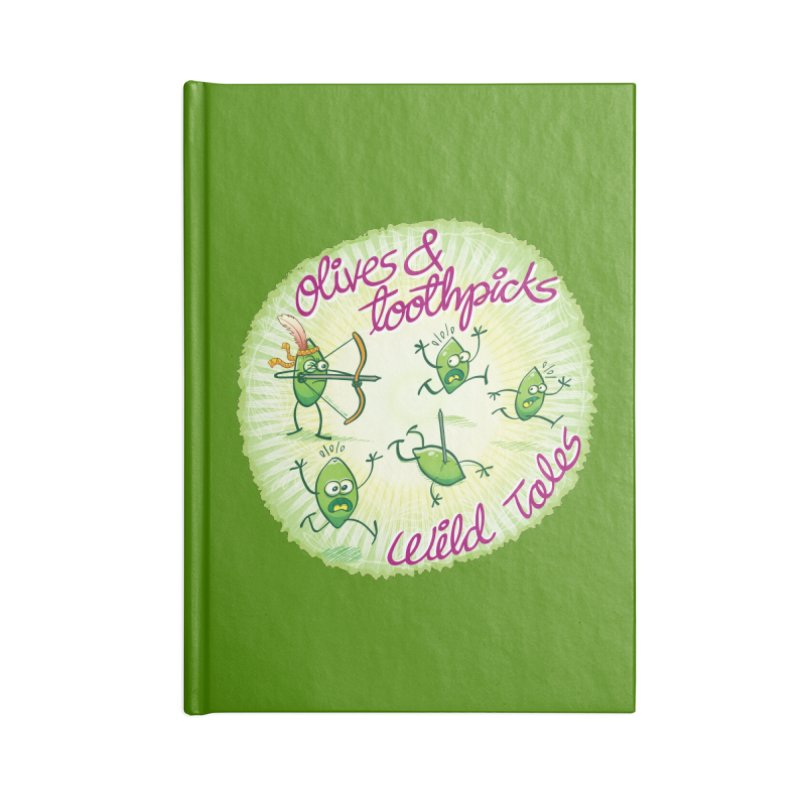 Olives and toothpicks wild tales Accessories Notebook by Zoo&co's Artist Shop