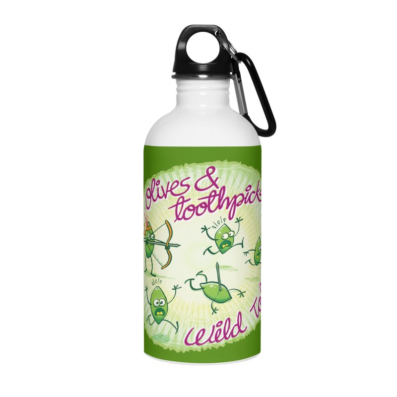 Olives and toothpicks wild tales Accessories Water Bottle by Zoo&co's Artist Shop