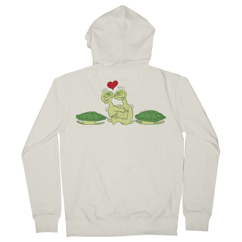 Funny naked turtles passionately making love Men's Zip-Up Hoody by Zoo&co's Artist Shop