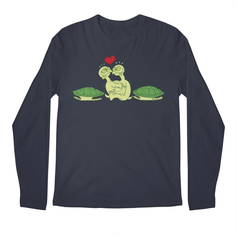 Funny naked turtles passionately making love Men's Longsleeve T-Shirt by Zoo&co's Artist Shop