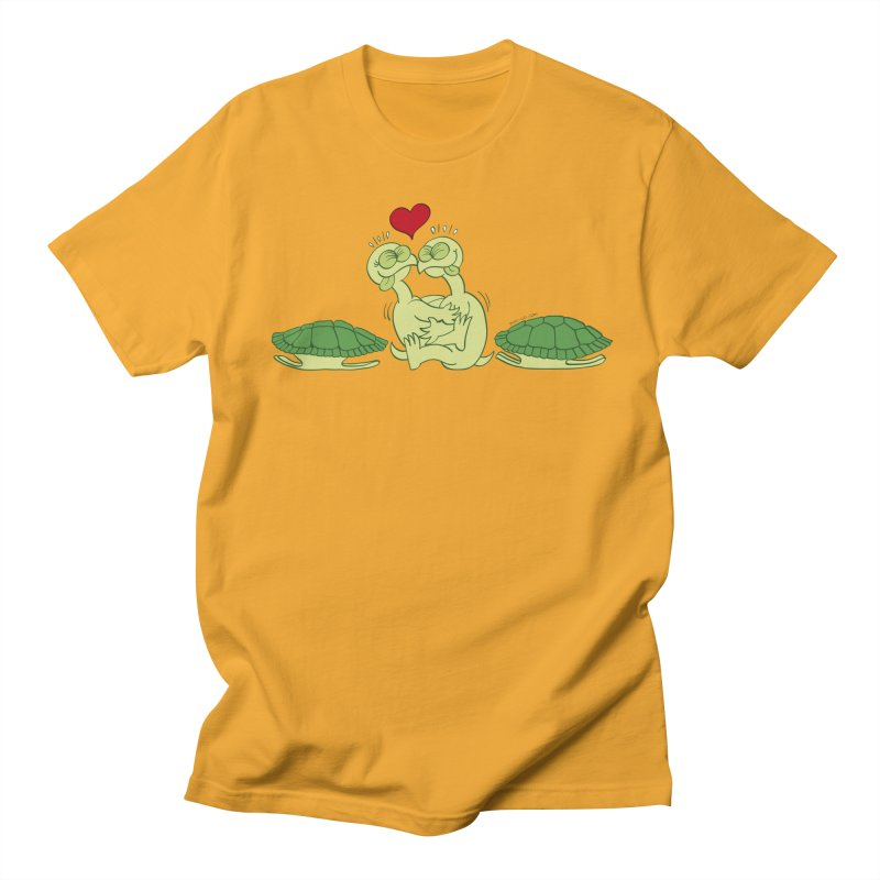 Funny naked turtles passionately making love Women's Unisex T-Shirt by Zoo&co's Artist Shop