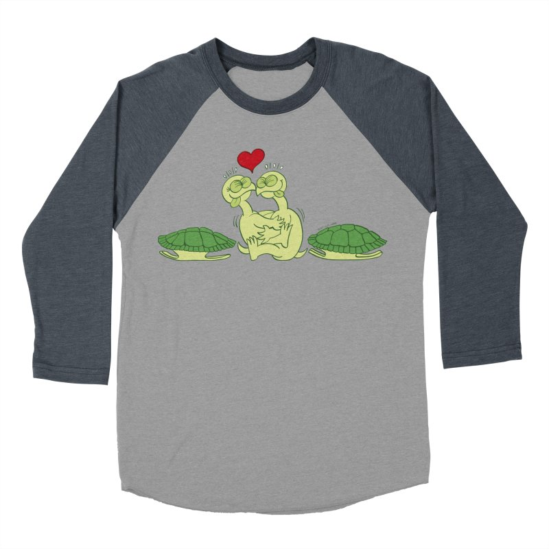 Funny naked turtles passionately making love Women's Baseball Triblend T-Shirt by Zoo&co's Artist Shop