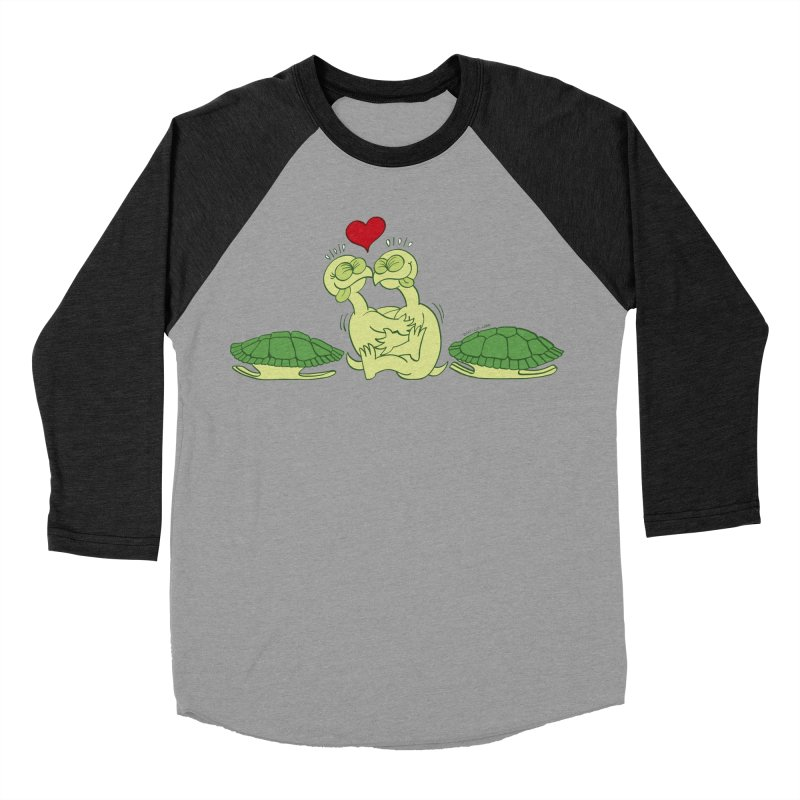 Funny naked turtles passionately making love Men's Baseball Triblend T-Shirt by Zoo&co's Artist Shop