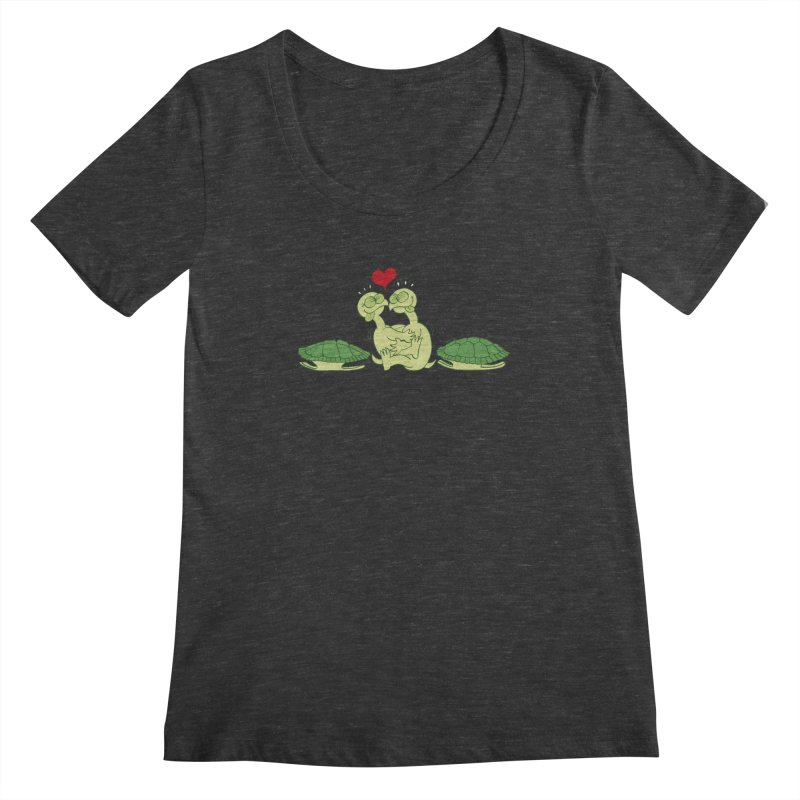Funny naked turtles passionately making love Women's Scoopneck by Zoo&co's Artist Shop