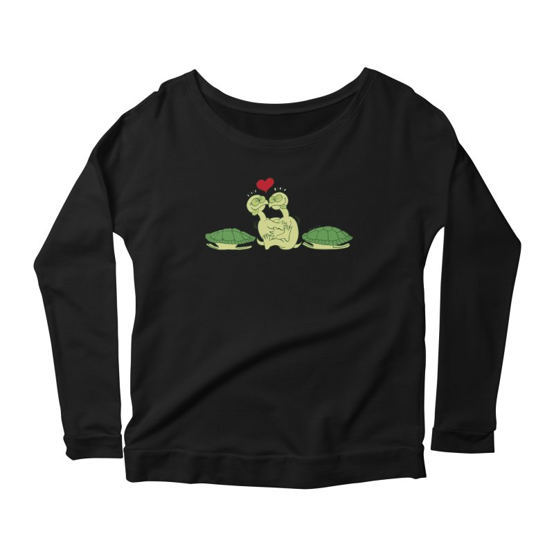 Funny naked turtles passionately making love Women's Longsleeve Scoopneck  by Zoo&co's Artist Shop