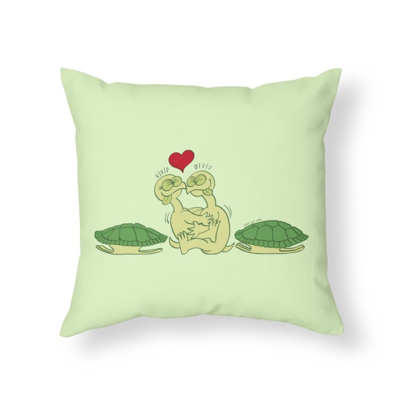 Funny naked turtles passionately making love Home Throw Pillow by Zoo&co's Artist Shop