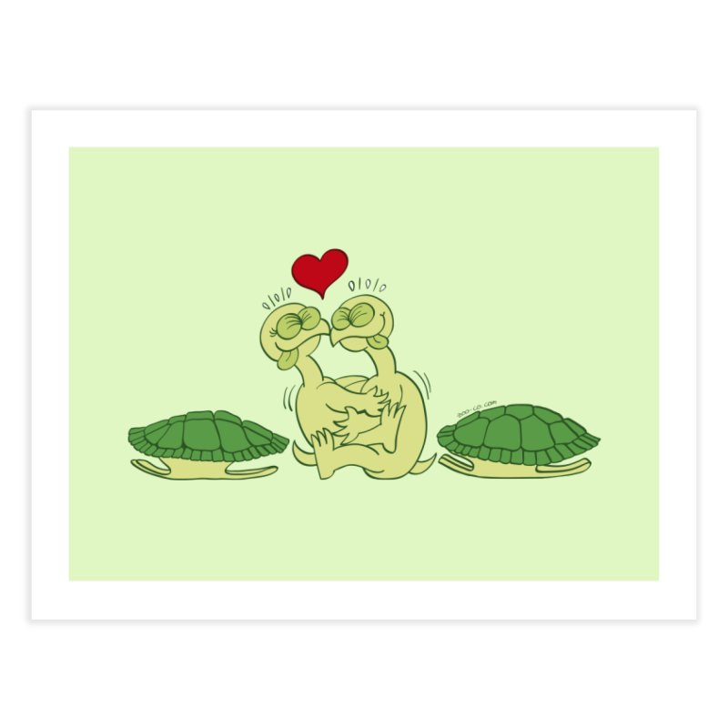 Funny naked turtles passionately making love Home Fine Art Print by Zoo&co's Artist Shop