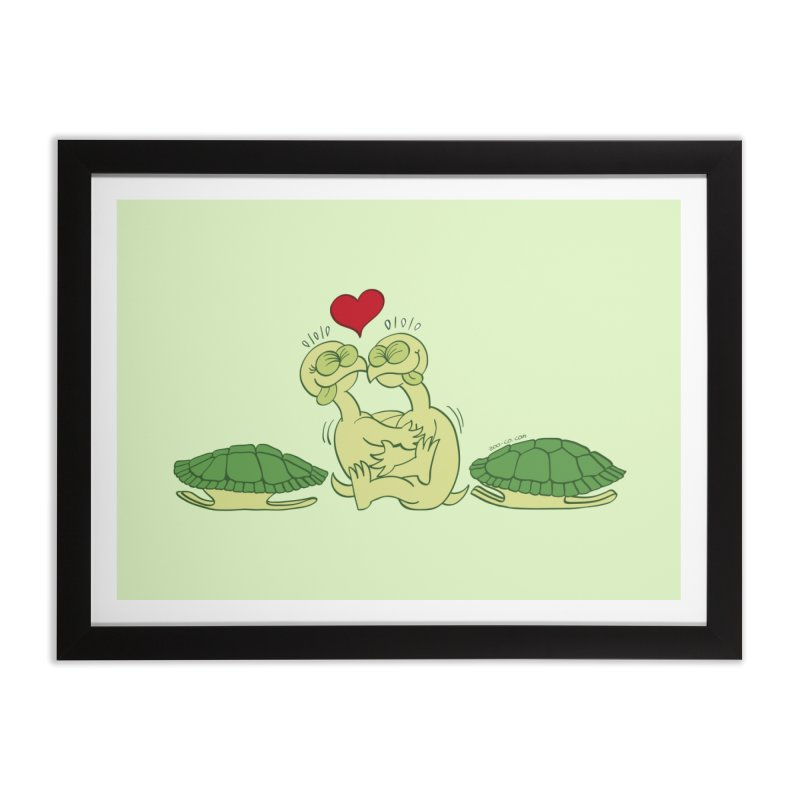 Funny naked turtles passionately making love Home Framed Fine Art Print by Zoo&co's Artist Shop