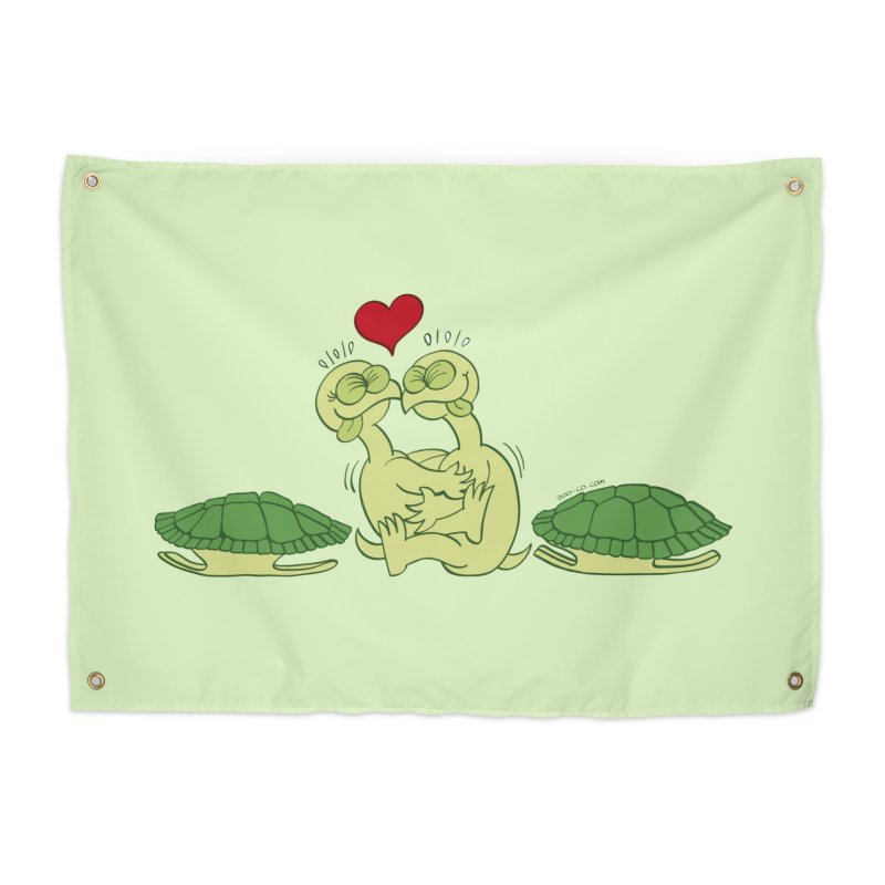 Funny naked turtles passionately making love Home Tapestry by Zoo&co's Artist Shop