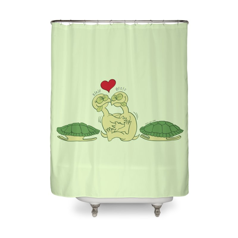 Funny naked turtles passionately making love Home Shower Curtain by Zoo&co's Artist Shop