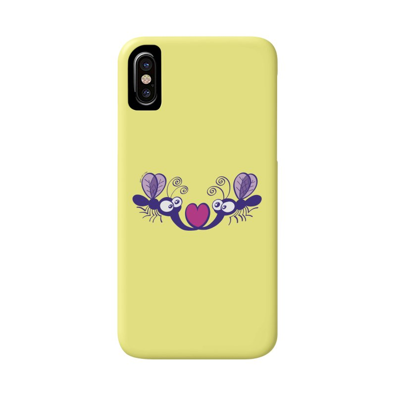 Funny mosquitoes irremediably falling in love Accessories Phone Case by Zoo&co's Artist Shop