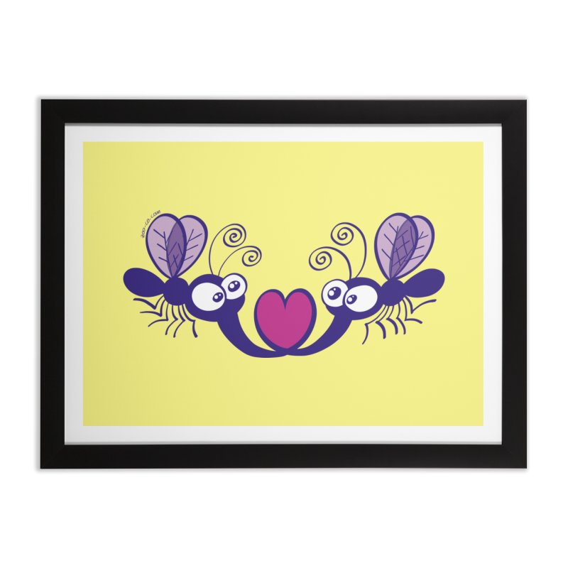 Funny mosquitoes irremediably falling in love Home Framed Fine Art Print by Zoo&co's Artist Shop