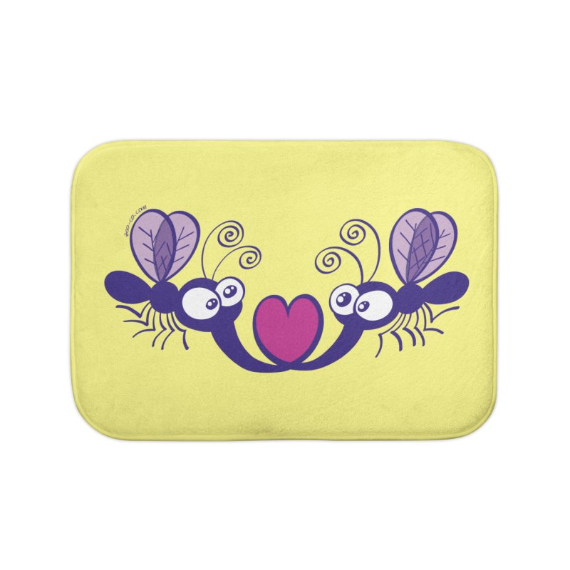 Funny mosquitoes irremediably falling in love Home Bath Mat by Zoo&co's Artist Shop