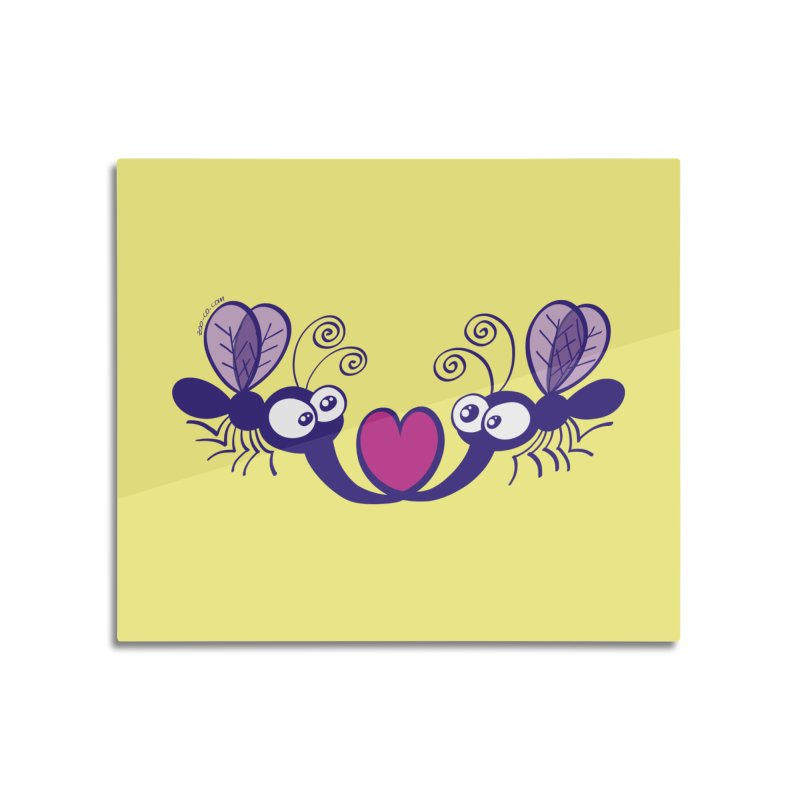 Funny mosquitoes irremediably falling in love Home Mounted Acrylic Print by Zoo&co's Artist Shop