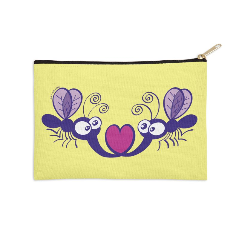 Funny mosquitoes irremediably falling in love Accessories Zip Pouch by Zoo&co's Artist Shop