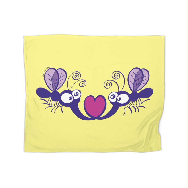 Funny mosquitoes irremediably falling in love Home Blanket by Zoo&co's Artist Shop